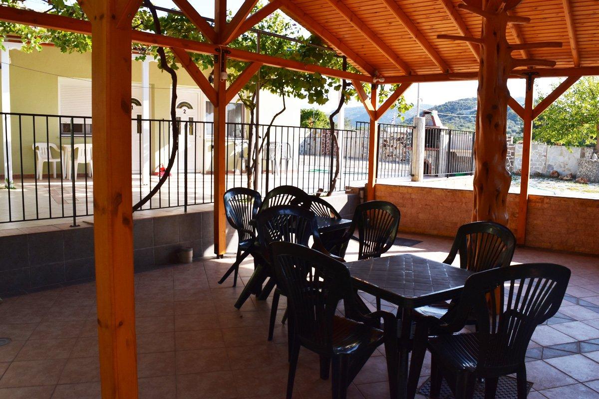 Dvorište vile Dimitris