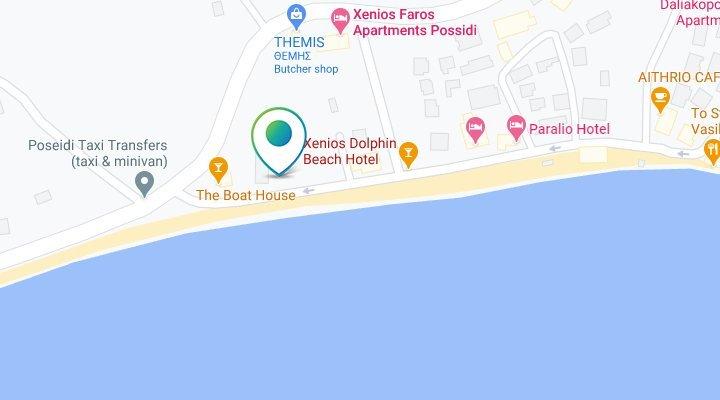 Hotel Xenios Dolphin Beach mapa