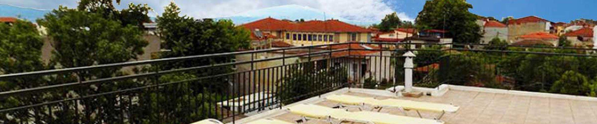 Vila Erika, terasa sa ležaljkama