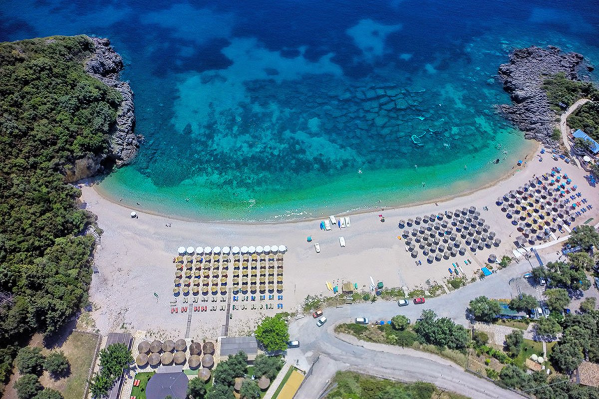 Mega Ammos Hotel plaža Sivota