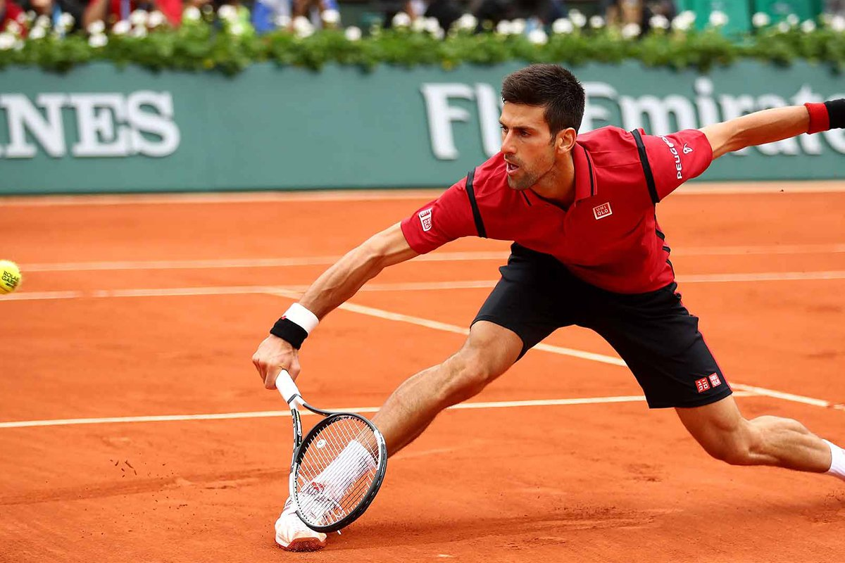 Novak Djoković na teniskom turniru Roland Garros