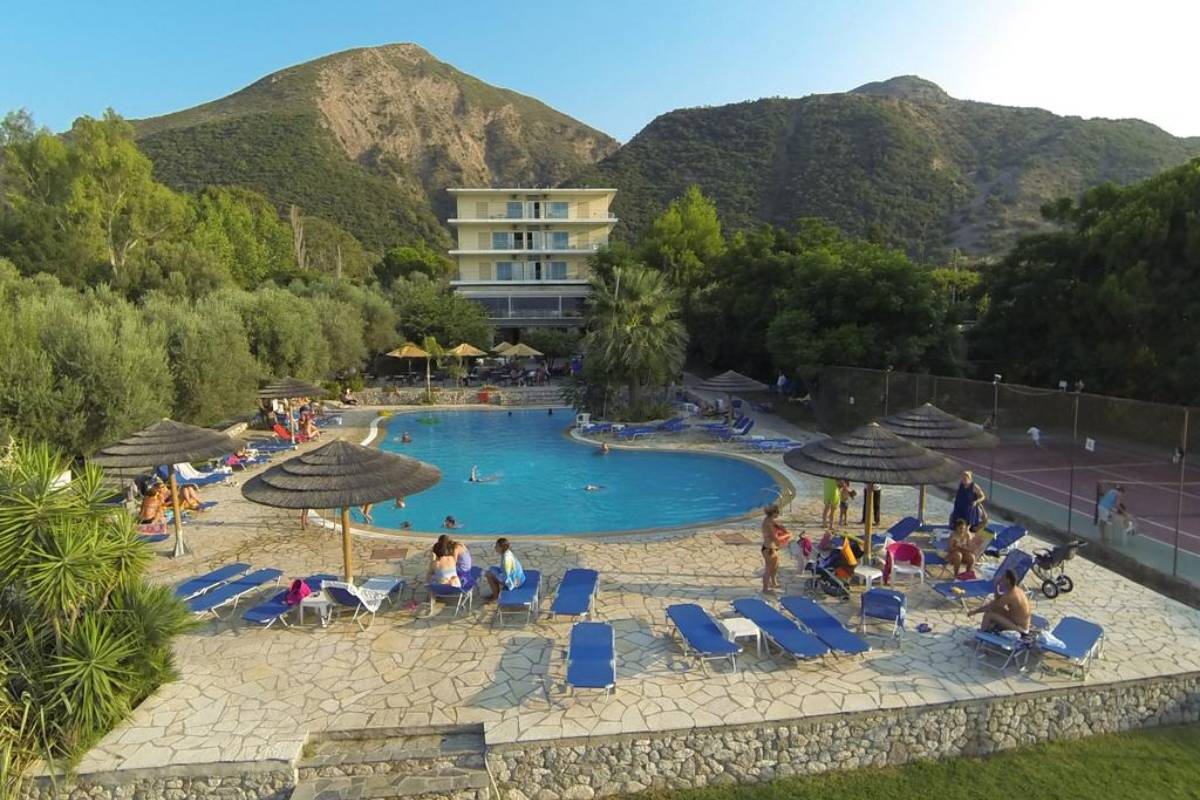 Florida Blue Bay Hotel bašta